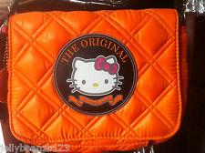Véritable Victoria Casal Couture Hello Kitty matelassé sac à main épaule sac orange