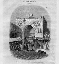 Stampa antica KONYA Iconium antica porta Turchia Turkey 1853 Old Print