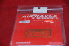 AIRWAVES PHOTO ETCHED SUKHOI SU27 CANOPY AC 7232 1:72 NEW