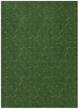 Christmas Poinsettias & Peppermints Green Scroll Fabric