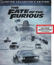 Rare Oop Fate Of The Furious Limited Collector'S Edition Blu-Ray Dvd Digital New