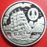 """ND(2008) COOK ISLANDS $5 SILVER PROOF """"KRUZENSTERN"""" 4-MASTED BARQUE RUSSIAN SHIP"""