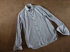 "MENS ""BURTONS"" LONG SLEEVE STRIPED SHIRT SIZE M 15.5"" - 16"""