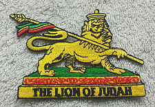 THE LION OF JUDAH PATCH Cloth Badge/Emblem Biker Jacket Rasta Haile Selassie I