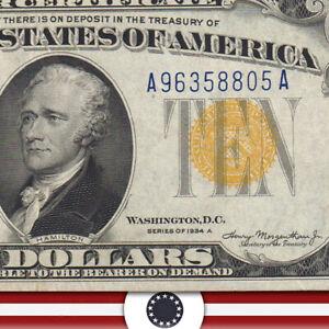 1934-A $10 NORTH AFRICA Silver Certificate WWII BILL  Fr 2309 A9638805A-UUT