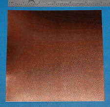 "Copper Sheet #24, .020"" (.51mm), 6x6"", Polished"