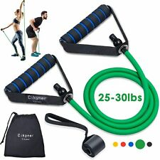 Heavy Resistance Tube Band Pull Up Handles Door Anchor Strength Training 25-30lb