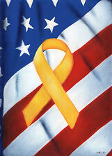 """Remember Our Troops Garden Flag Patriotic USA Yellow Ribbon Military 12.5""""x18"""""""