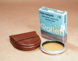 Rollei Rolleiflex Bay III Light Yellow Filter Bayonet 3 - CLEAN & BOXED!