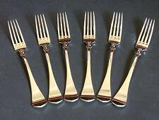WILKENS , Schloß Gripsholm, 6 Speise Gabeln, Besteck, 90er Silber, 19,6 cm