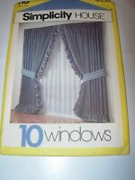 CRAFTS UNCUT SIMPLICITY Sewing Pattern 118 ROMAN BALLOON SHADE CAFE CURTAINS