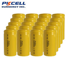 20 x  NiCd C Size 1.2V 3000mAh Ni-Cd Rechargeable Battery For Soldering PKCELL