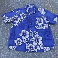 Stitch Hawaiian Shirt Button Down Tropical Blouse Floral Aloha Size Large