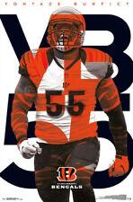VONTAZE BURFICT Cincinnati Bengals Official NFL Football Action POSTER