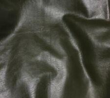 "DARK OLIVE GREEN Cow Hide Leather 8""x8"" Piece"