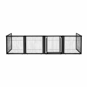 "Richell Convertible Elite Pet Gate 6 Panel Black 130"" - 134"" x 31.7"" - 33.7"" x 3"