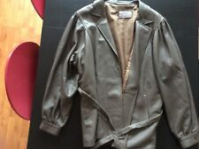 VINTAGE Veste cuir taupe marque CARLY - taille Large (42/44) IMPECCABLE