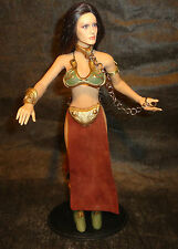 "1/6 12"" Phicen Female Custom Princess Leia Slave Gold Bikini Star Wars Kumik"