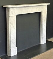 New Flat Victorian Carrara Marble Fireplace Surround