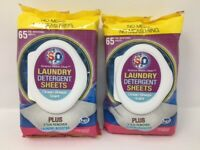 S20 Laundry Detergent Sheets 2 Packs of 65 - 130 Sheets Total  OCEAN BREEZE