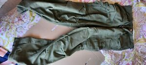 US ARMY OLIVE GREEN COLD WEATHER TROUSERS OG 107 VIETNAM ERA