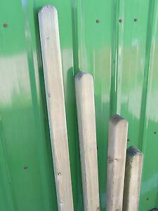 7 x 7 Holzpfosten Zaunpfahl Vierkantpfosten gerundet Pfosten Kantholz kdi
