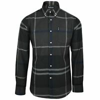 BARBOUR MENS DUNOON GRAPHITE TARTAN CHECK SHIRT
