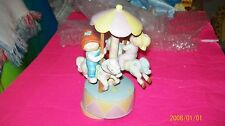 Cabbage Patch Kids porcelain figure kids on a merry go round. musical works
