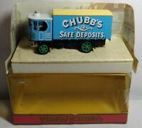 MATCHBOX MODELS OF YESTERYEAR GARRETT STEAM WAGON - CHUBB'S SAFE DEPOSITS - Y-37