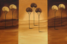 OZNAT TZADOK Contempoary Lanscape Unique Trees Painting 2004