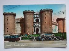 NAPOLI TRAM Tramway Maschio angioino vecchia cartolina
