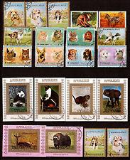 AJMAN Les animaux sauvages et domestiques: éléphants,buffles,tigres,chiens,F9