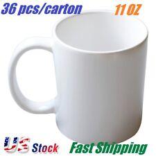 36 Pcs Blank Sublimation Mugs 11oz Grade Aaa White Ceramic Mugs Heat Transfer