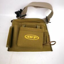AWP Yellow canvas tool Bag with adjustable waist strap