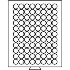 Leuchtturm Münzbox 88 runde Fächer mit 21,5 mm Ø, grau