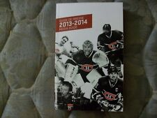 2013-14 MONTREAL CANADIENS MEDIA GUIDE Yearbook Press Book 2014 Program NHL AD