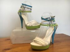 CARVELA KURT GEIGER Stunning White High Heels Party Shoes Size 38 UK 5
