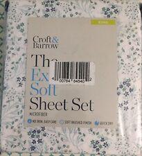 Croft & Barrow Extra Soft Microfiber KING Size Multi Floral King Sheet Set