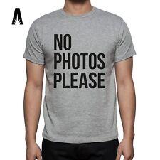 R 0055 NO PHOTOS PLEASE T-shirt Tee Camiseta Exclusive design Celebrity Hipster