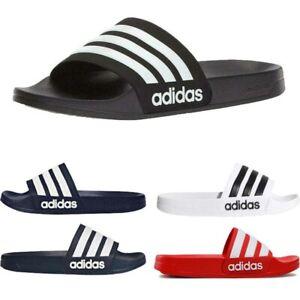 Adidas Slides Mens Sliders Adilette  Cloudfoam Beach Flip Flops Sandals Shoes