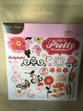 Crate Paper Rubons Pink Plum Collection Pink Orange Brown Butterfly Flowers