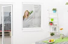 Sonnenschutz Fliegengitter Gaze für Fenster 130 x 150 cm Klettband Mückengitter