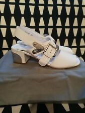 BRAND NEW ALEXANDER MCQUEEN white leather sandals sz37 UK4 £630 MADE IN ITALY