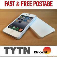 IPhone 4 / 4S Custodia / Cover-bianco puro - * UK Venditore * PRONTA SPEDIZIONE *