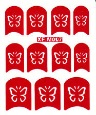 Nail Art Decal Stencil Stickers Butterfly Butterflies XF.M007