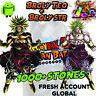 🌟Dokkan Battle - Broly TEQ + Broly LR with 1000+ Dragon Stones Fresh Global