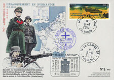 "FDC ""70 ans D-DAY : Cimetière Militaire allemand La Cambe - ROMMEL / WWII"" 2014"