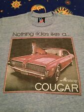 Vintage Mercury Couger t shirt Junkfood Racing Muscle Car Hot Rod S/M Free Ship
