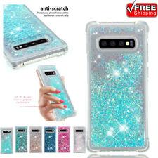 Phone Case For Samsung Galaxy S10 S9 S8 Glitter Liquid Quicksand Shockproof TPU