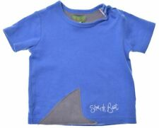 JOULES Boys Graphic T-Shirt Top 9-12 Months Blue Cotton  B106